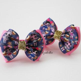 clubzakolka.ru Резинки для волос Банты классические с куколками L.O.L. яркие