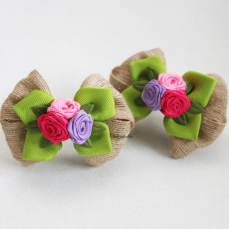 clubzakolka.ru Банты на резинках с букетиками из роз в стиле БОХО