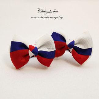 clubzakolka.ru Резинки для волос Банты трёхцветные Россия