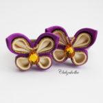 clubzakolka.ru Резинки для волос Бабочки лилово-кремовые