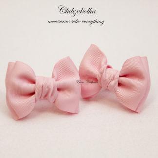clubzakolka.ru Резинки для волос Банты Моноцвет нежно-розовые