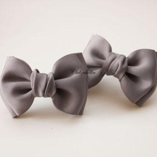 clubzakolka.ru Резинки для волос Банты Моноцвет серый