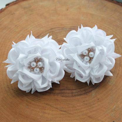 clubzakolka.ru Резинки для волос Цветы Камелии белые крупные