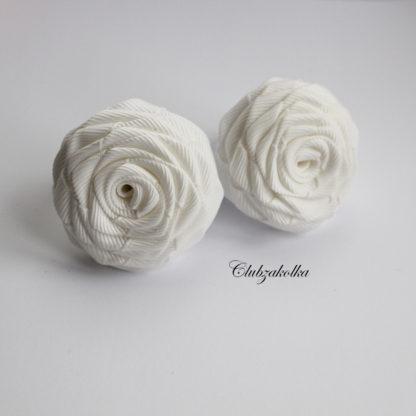 clubzakolka.ru Резинки для волос розы белые