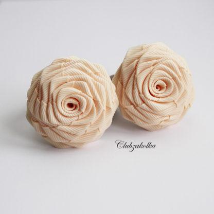 clubzakolka.ru Резинки для волос розы кремовые