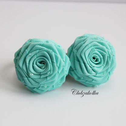 clubzakolka.ru Резинки для волос Розы мятные с бисером