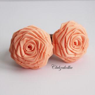 clubzakolka.ru Резинки для волос розы персиковые