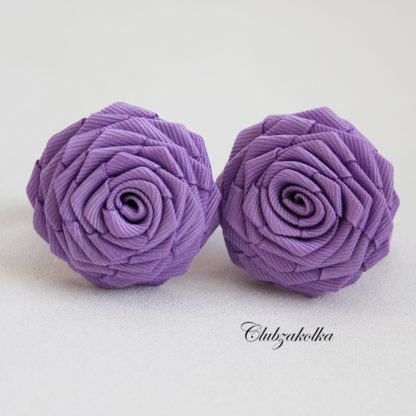 clubzakolka.ru Резинки для волос Розы сиреневые