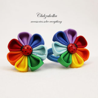 clubzakolka.ru Резинки для волос Цветочки Семицветики