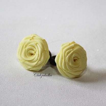 clubzakolka.ru Резинки для волос желтые розы для малышек