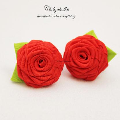 clubzakolka.ru Розы красные с листиками на резинках
