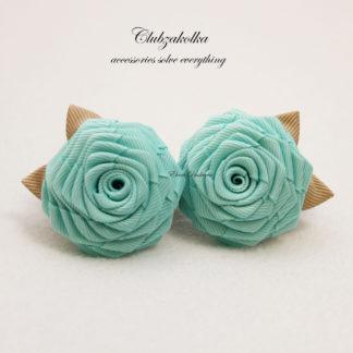 clubzakolka.ru Розы цвета Тиффани с бежевыми листиками на резинках