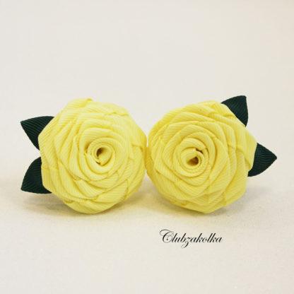 clubzakolka.ru Розы желтые с зелёными листиками на резинках