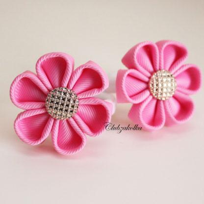 clubzakolka.ru Резинки для волос Цветочки розовые