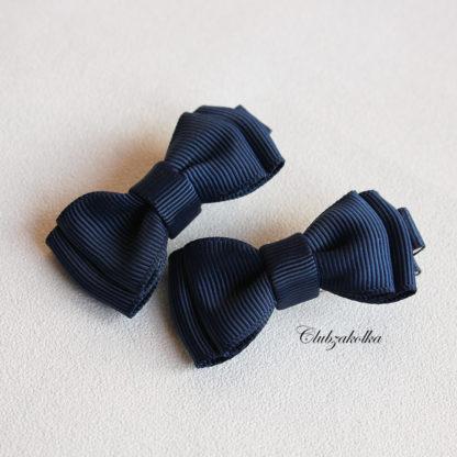 clubzakolka.ru Заколки для волос Бантики тёмно-синие