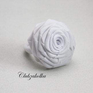Резинка для волос крупная белая роза — в интернет-магазине Clubzakolka