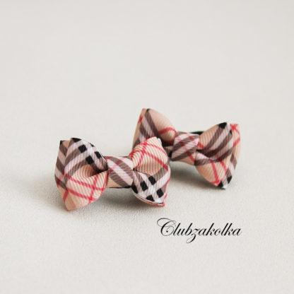 clubzakolka.ru Резинки для волос для малышек Бантики в стиле Burberry