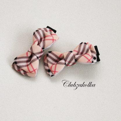 clubzakolka.ru Заколки для волос Бантики в стиле Burberry