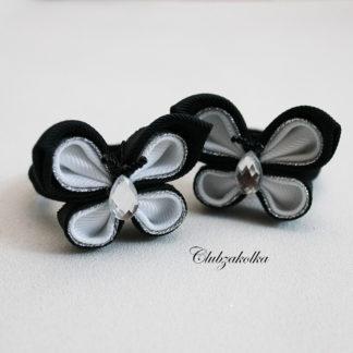 Резинки для волос Бабочки чёрно-белые — в интернет-магазине Clubzakolka
