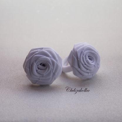 Белые розы для малышек на резинке — в интернет-магазине Clubzakolka