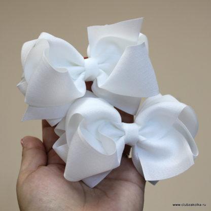 Резинки для волос Банты Clubzakolka белые матовые (размер XL)